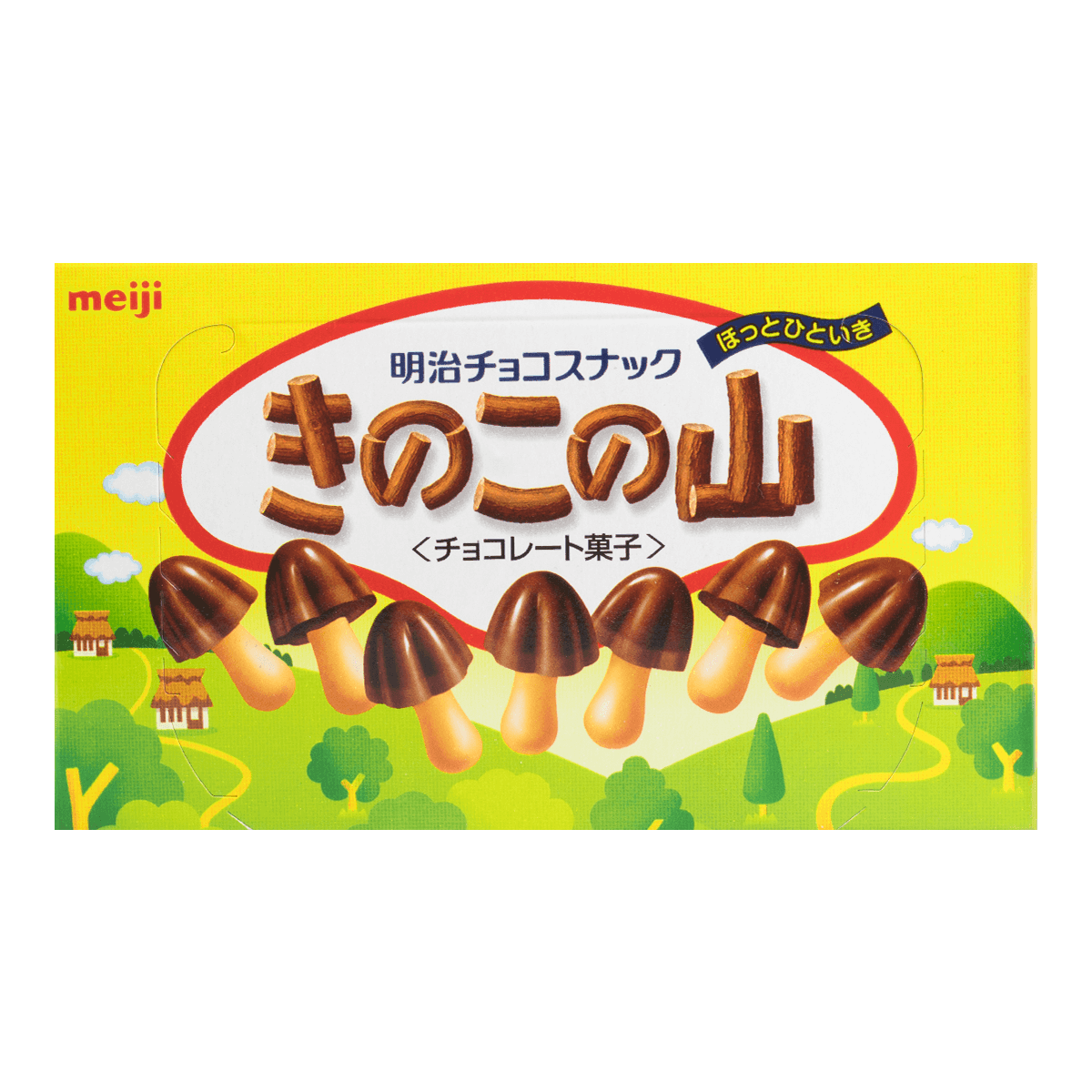 MEIJI Baked Wheat Cracker with Chocolate Mushroom 74g