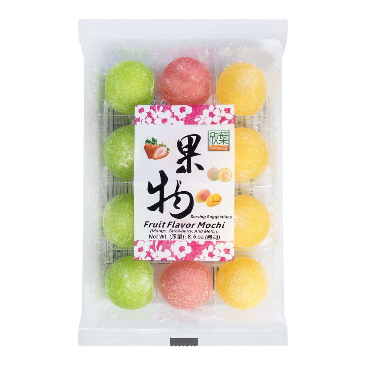 台湾欣叶 果物麻薯  哈密瓜味/草莓味/芒果味   240g