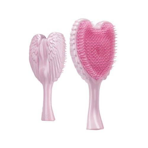英国TANGLE ANGEL 天使美发梳子 不打结顺发防静电 嫩粉色 中号