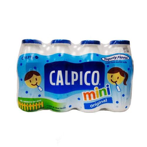 日本CALPICO 无碳酸天然无色素乳酸菌酸奶饮料 原味 迷你4瓶装