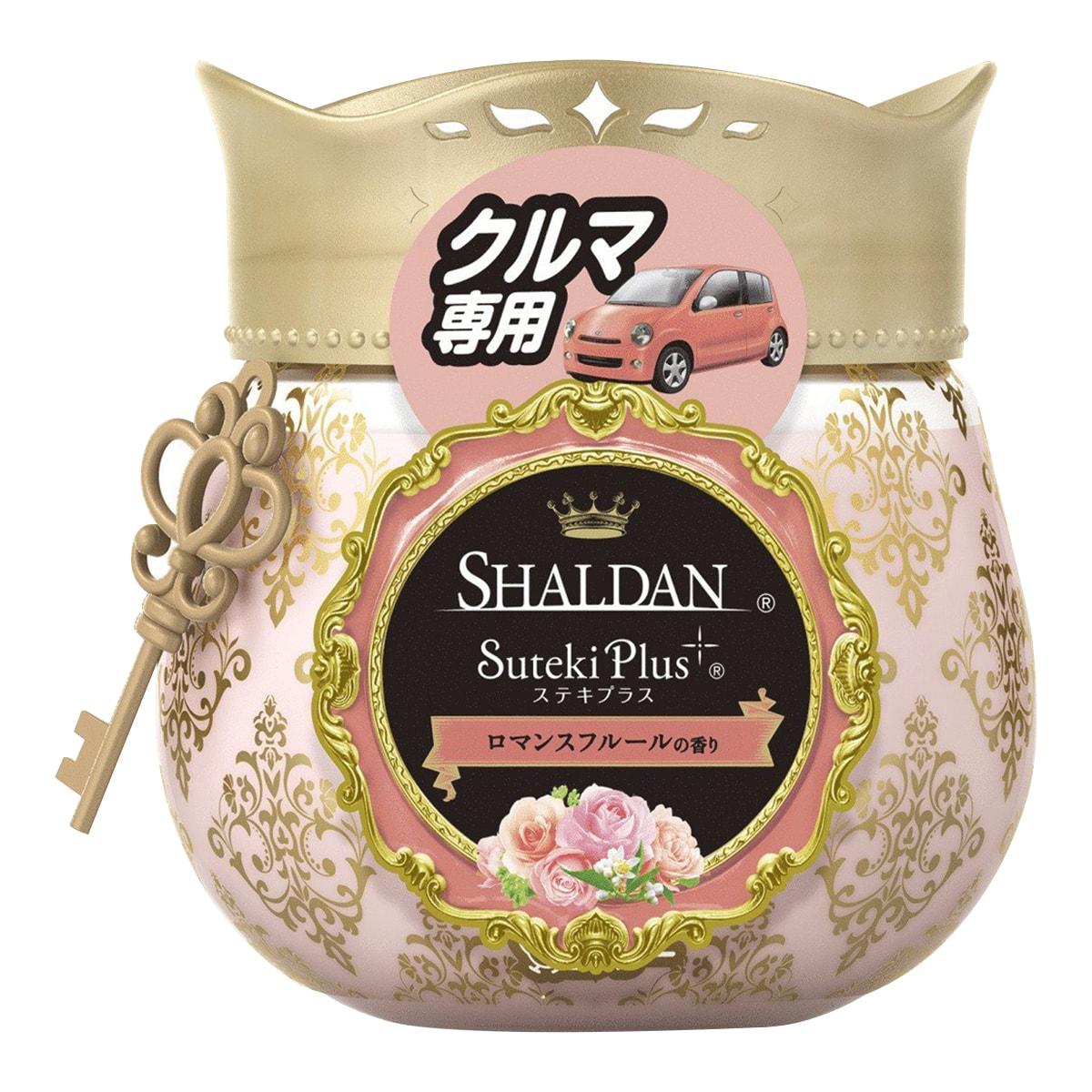 日本ST鸡仔牌 SHALDAN 车用梦幻香水果冻芳香剂 #浪漫花香 90g