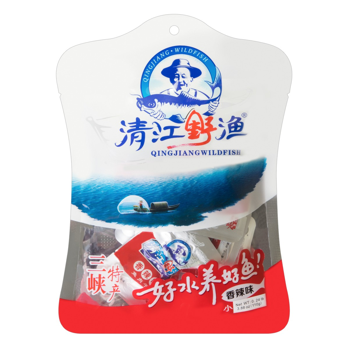 土老憨 清江野渔 鱼肉干 香辣味 110g 三峡特产