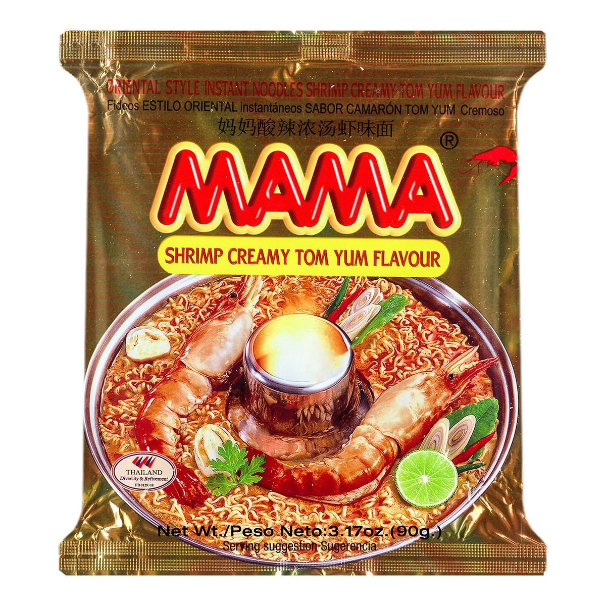 MAMA Tom Yum Shrimp Flavor Instant Noodle 90g