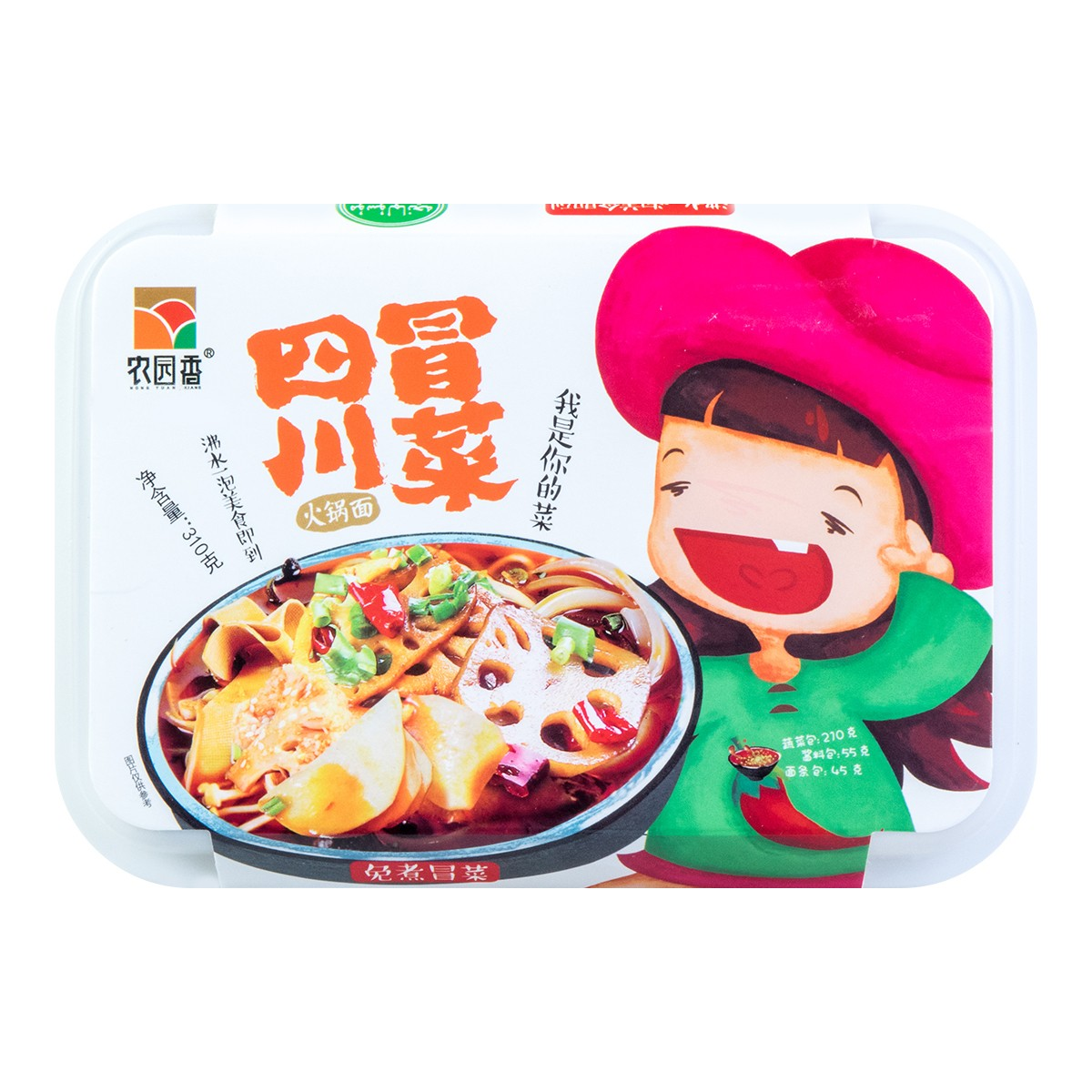 农园香 四川冒菜 火锅面 310g