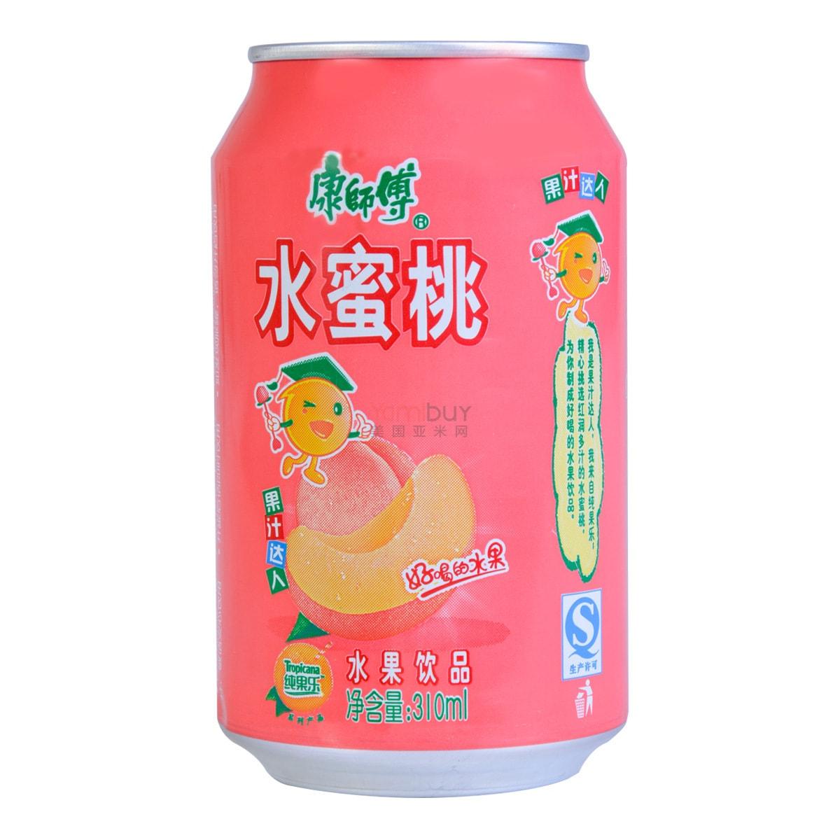 康师傅 水蜜桃 水果饮品 罐装 310ml
