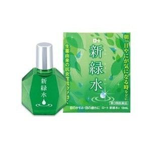 日本ROHTO乐敦 新绿水 日用抗疲劳消炎型眼药水 13ml