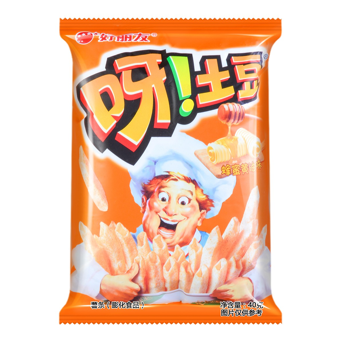 韩国ORION好丽友 呀!土豆薯条膨化食品 蜂蜜黄油味 40g