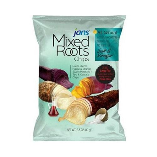 JANS Mixed Roots Chips Salt & Vinegar 80g