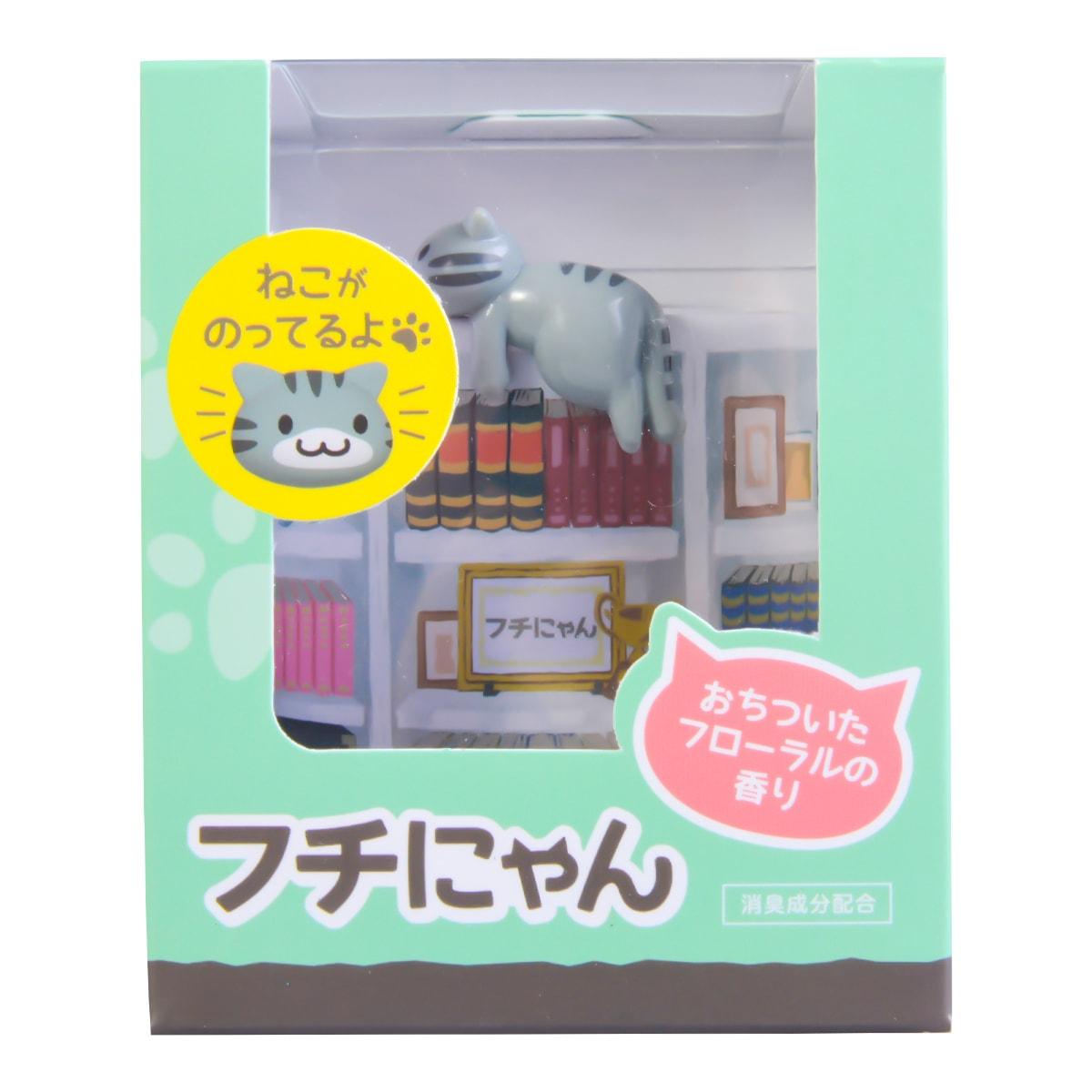日本CARMATE快美特 療癒小貓汽车果冻芳香除臭剂 白花香味 80g