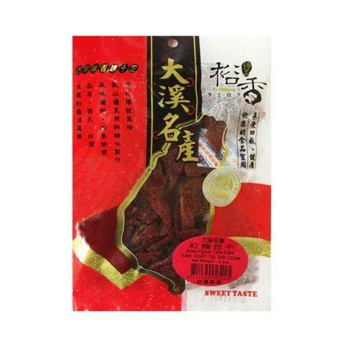台湾裕香 手工豆干 紅麴口味 150g  大溪名产