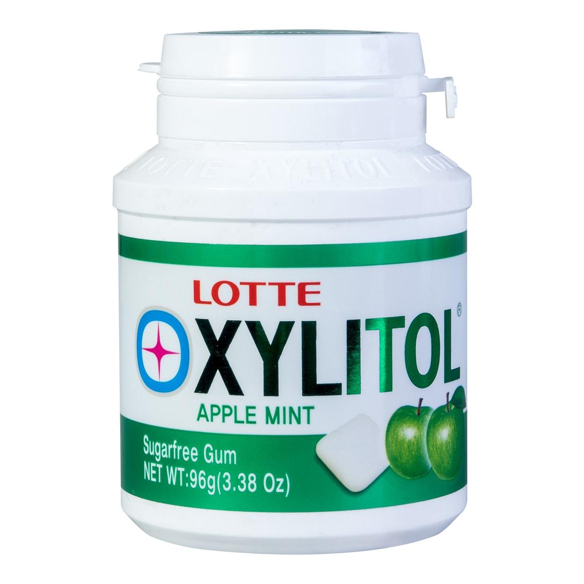 韩国LOTTE乐天 XYLITOL木糖醇口香糖 苹果薄荷味 96g