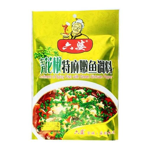 六婆 青花椒特麻嫩鱼调料 258g