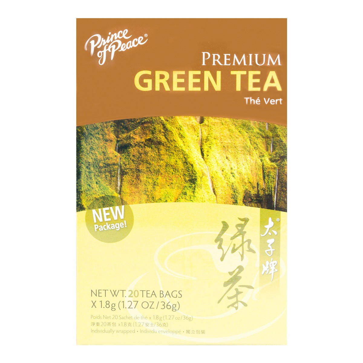 PRINCE OF PEACE Premium Green Tea 20 Bags 36g