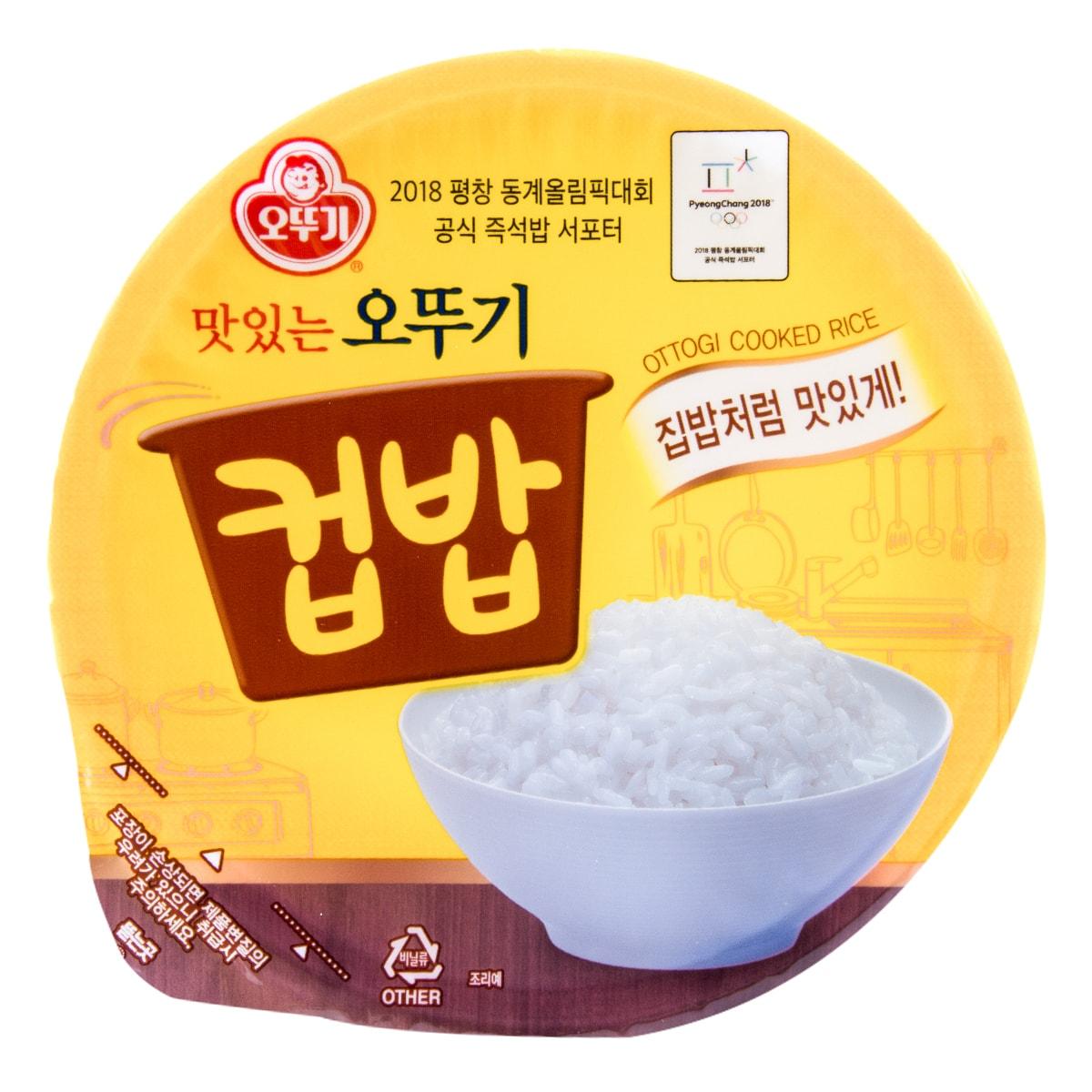 韩国OTTOGI不倒翁 韩式传统美味速食汤饭 海带牛肉汤味 172g 碗装