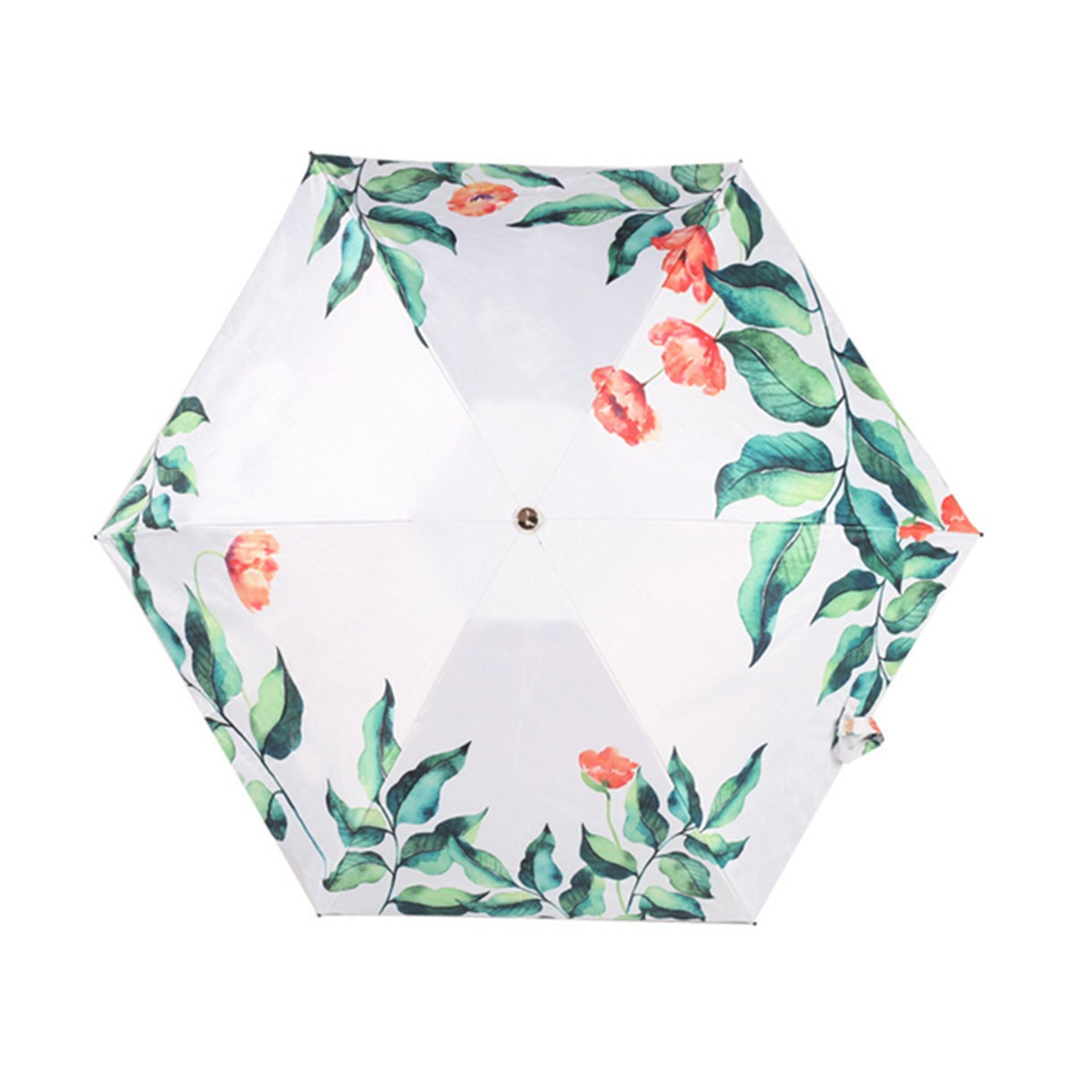 TIMESWOOD 超轻小巧黑胶防紫外线五折迷你口袋伞太阳伞晴雨伞  1把