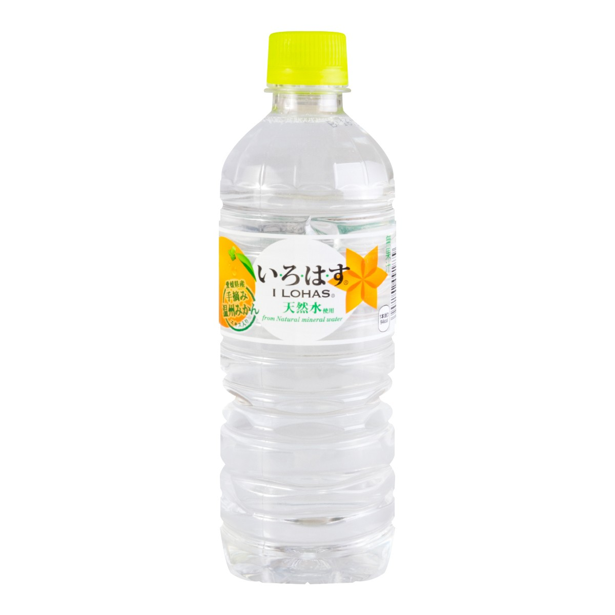 【清仓】日本I LOHAS 无色透明米甘橘矿泉水 555ml