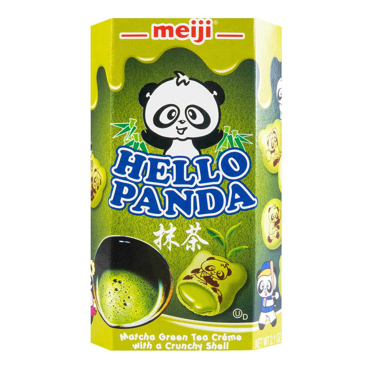 MEIJI Hello Panda Cookies filled with Matcha Creme 60g