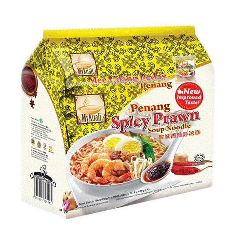 MYKUALI Penang Spicy Prawn Soup Noodle 4pc