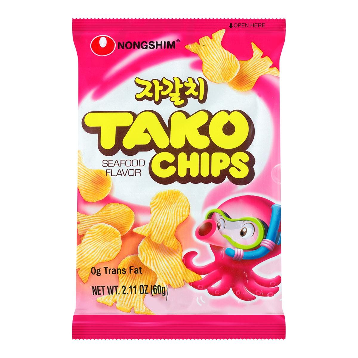 韩国NONGSHIM农心 八爪鱼海鲜薯片 60g