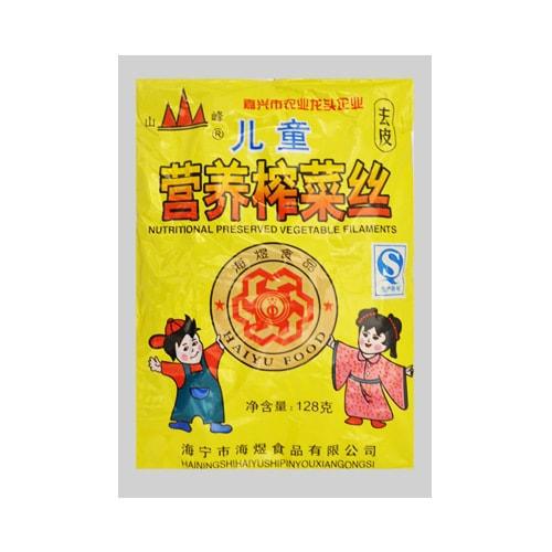 海宁山峰牌 儿童营养去皮榨菜丝 108g