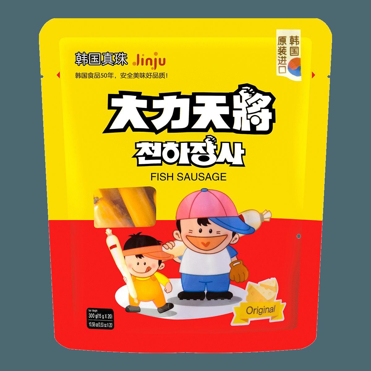 韩国大力天将 鳕鱼肠 芝士味 20根入 300g