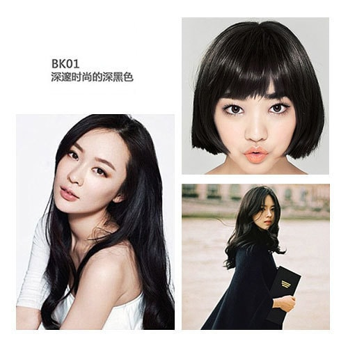 ETUDE HOUSE HOT STYLE Bubble Hair Coloring Deep Black 4 Pieces