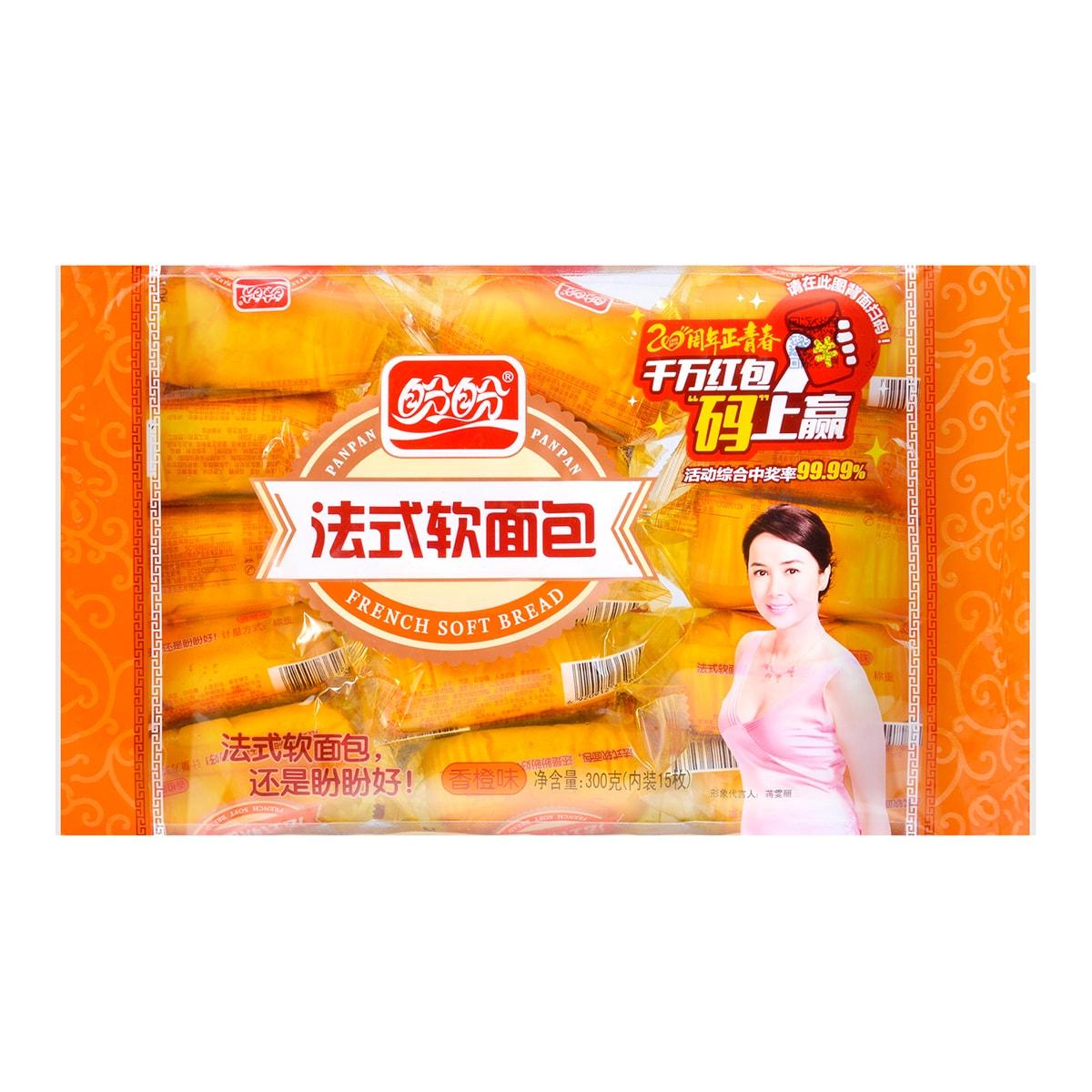 盼盼 法式软面包 香橙味 15枚入 300g