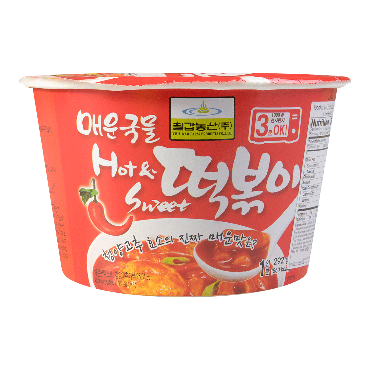 韩国CHILKAB 辣炒年糕汤 碗装 292g