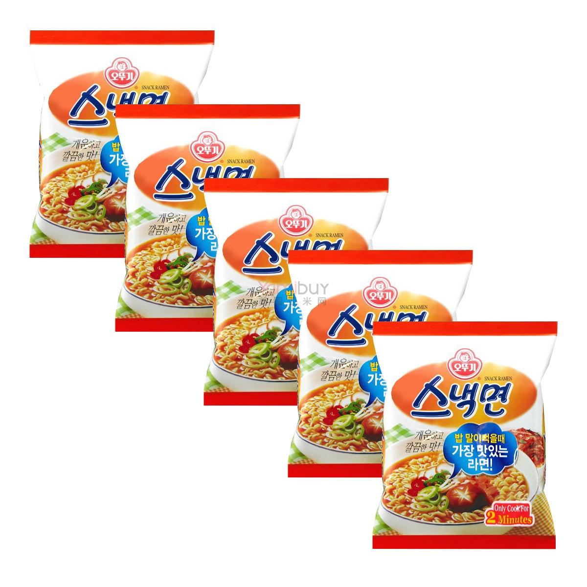 韩国OTTOGI不倒翁 牛肉汤拉面 5包装