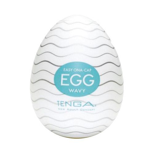 成人用品 日本TENGA典雅 EGG男士专用玩具蛋 001波纹型 5ml