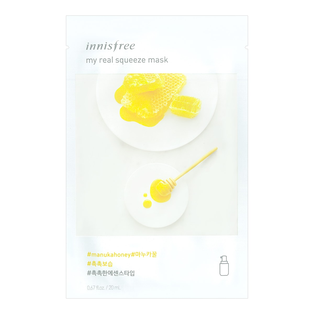 INNISFREE My real squeeze mask Honey 1sheet
