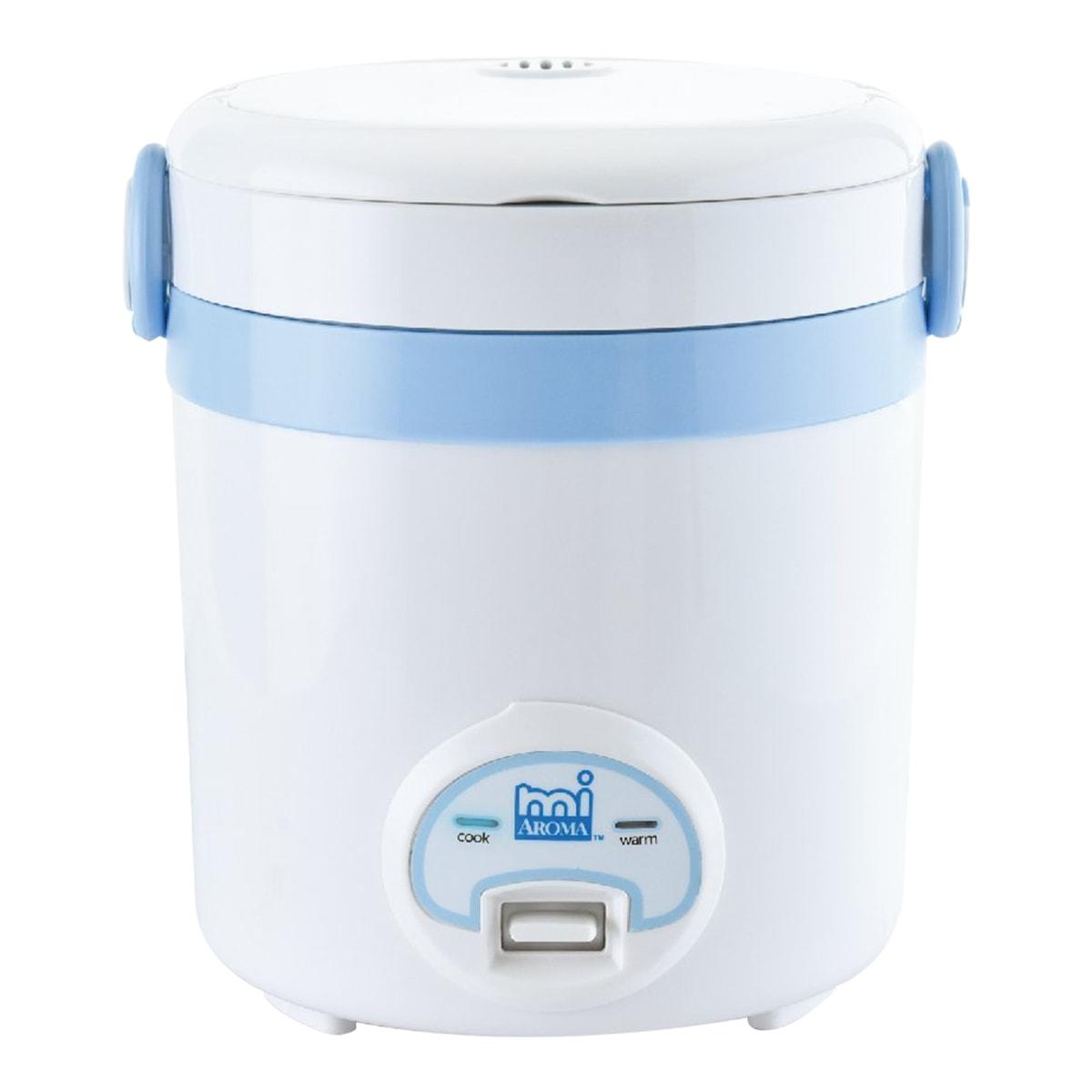 美国AROMA 方便一按迷你电饭煲 3杯熟米容量 MRC-903BL 1-3人份 (1年制造商保修)