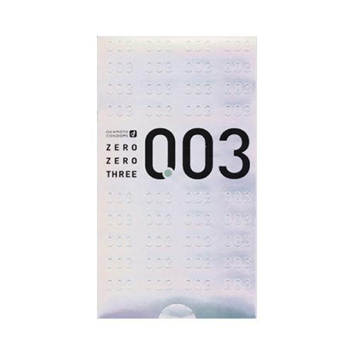 日本OKAMOTO冈本 003系列 白金天然超薄安全避孕套 12个装