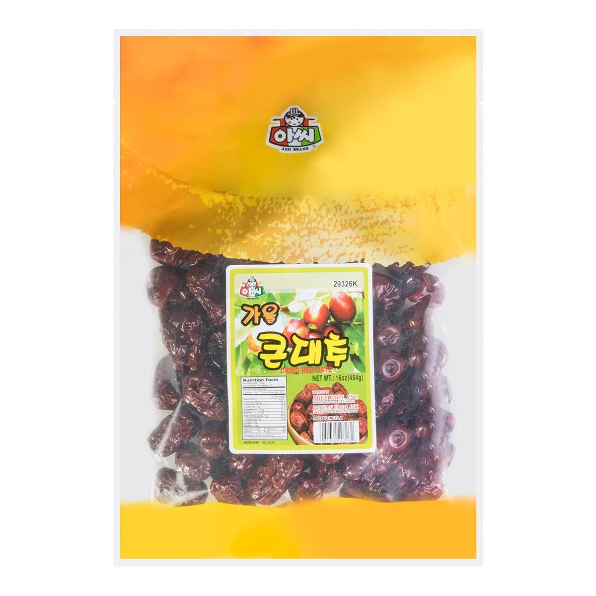 韩国ASSI BRAND 天然农场大红枣 454g