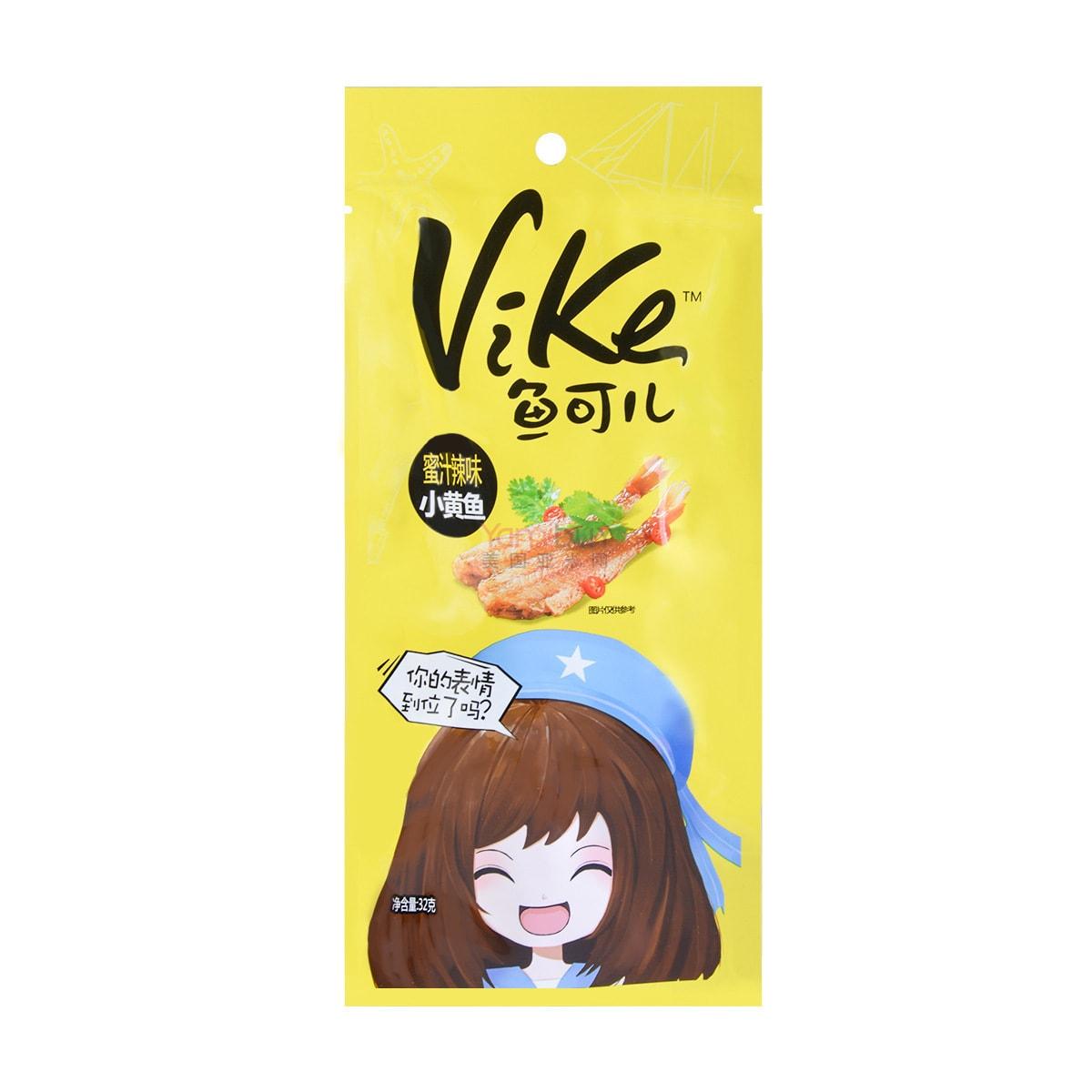 乐惠 VIKE鱼可儿 小黄鱼 蜜汁辣味 32g