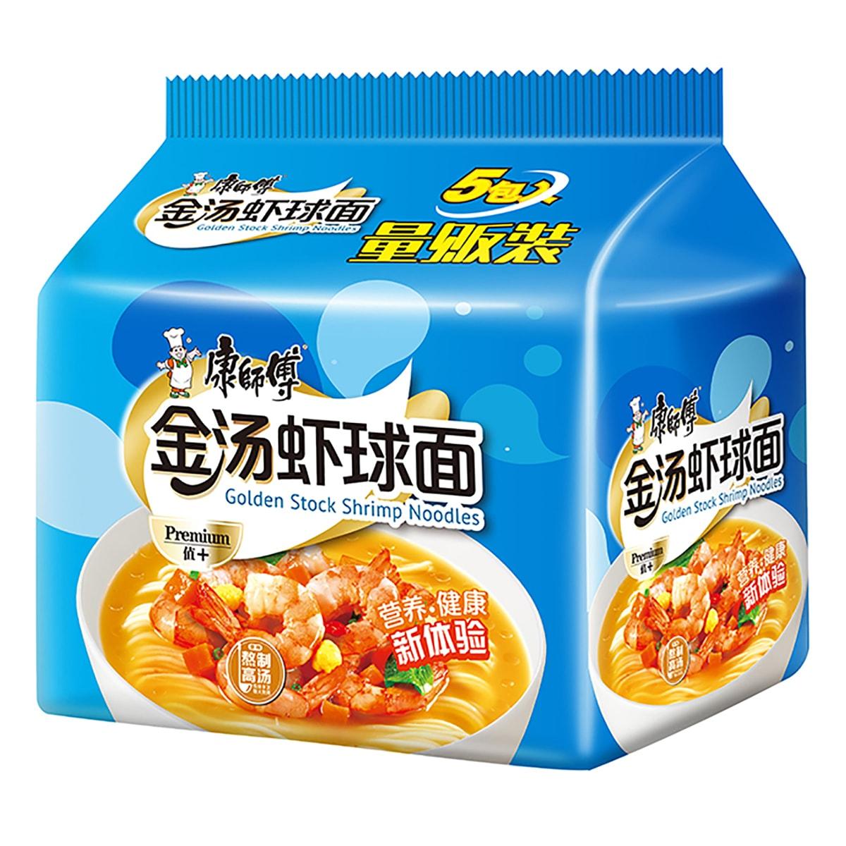 康师傅 金汤虾球面 量贩装 5包入 520g