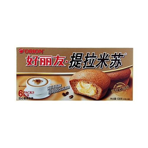 韩国ORION好丽友 提拉米苏注心蛋类芯饼 6枚入