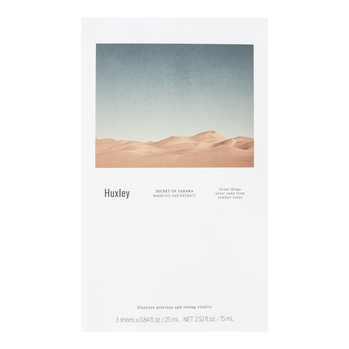 HUXLEY Oil Mask 3Sheets