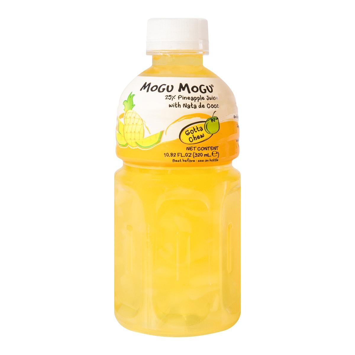 泰国MOGU MOGU 果汁椰果饮料 菠萝味 320ml