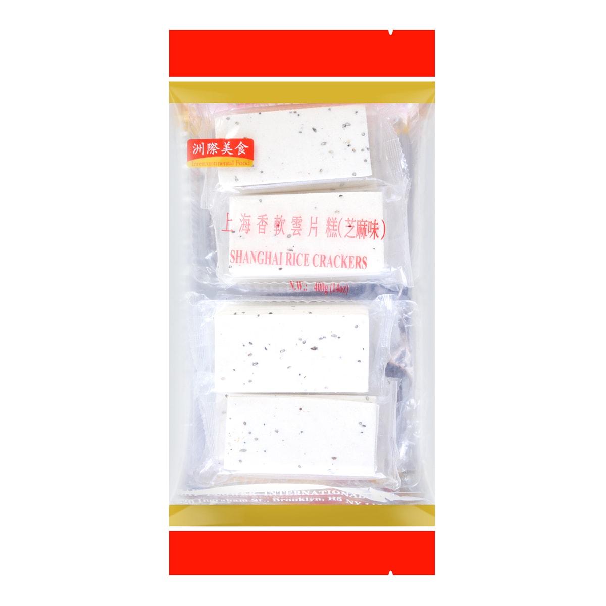 洲际美食 上海香软云片糕 芝麻味 400g