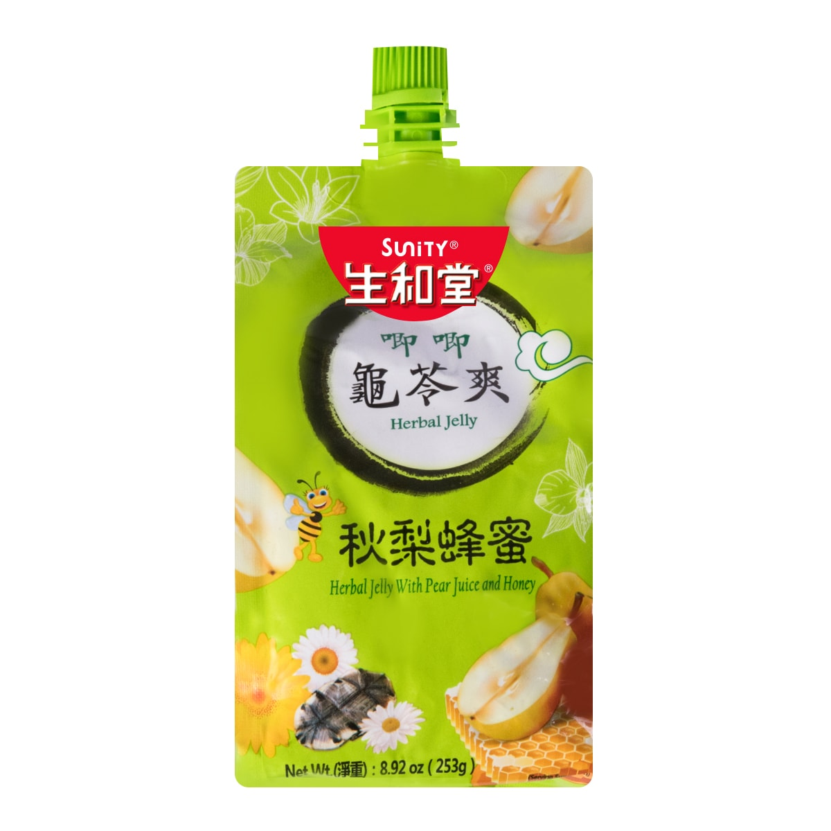 SUNITY Herbal Jelly with Pear Juice and Honey 253g