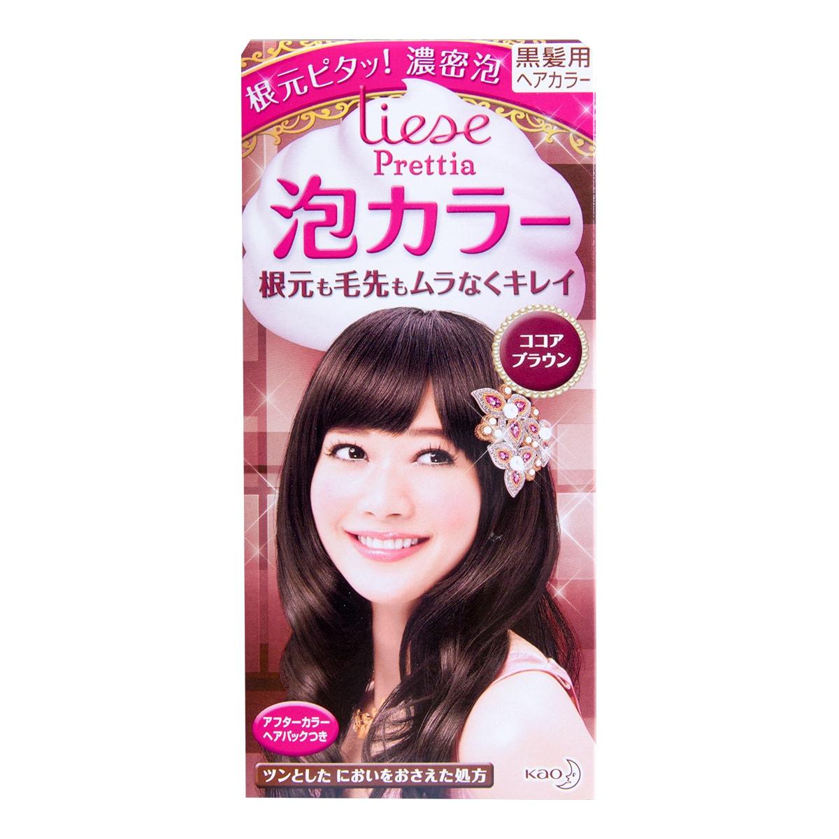 日本KAO花王 LIESE PRETTIA 泡沫染发剂 #Cocoa Brown巧克力棕色 1組入 COSME大赏第一位