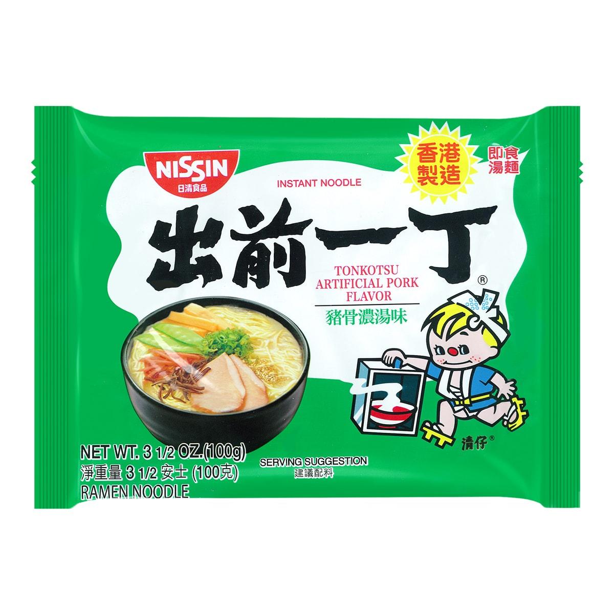 日本NISSIN日清 出前一丁 即食汤面 九州猪骨浓汤味 100g