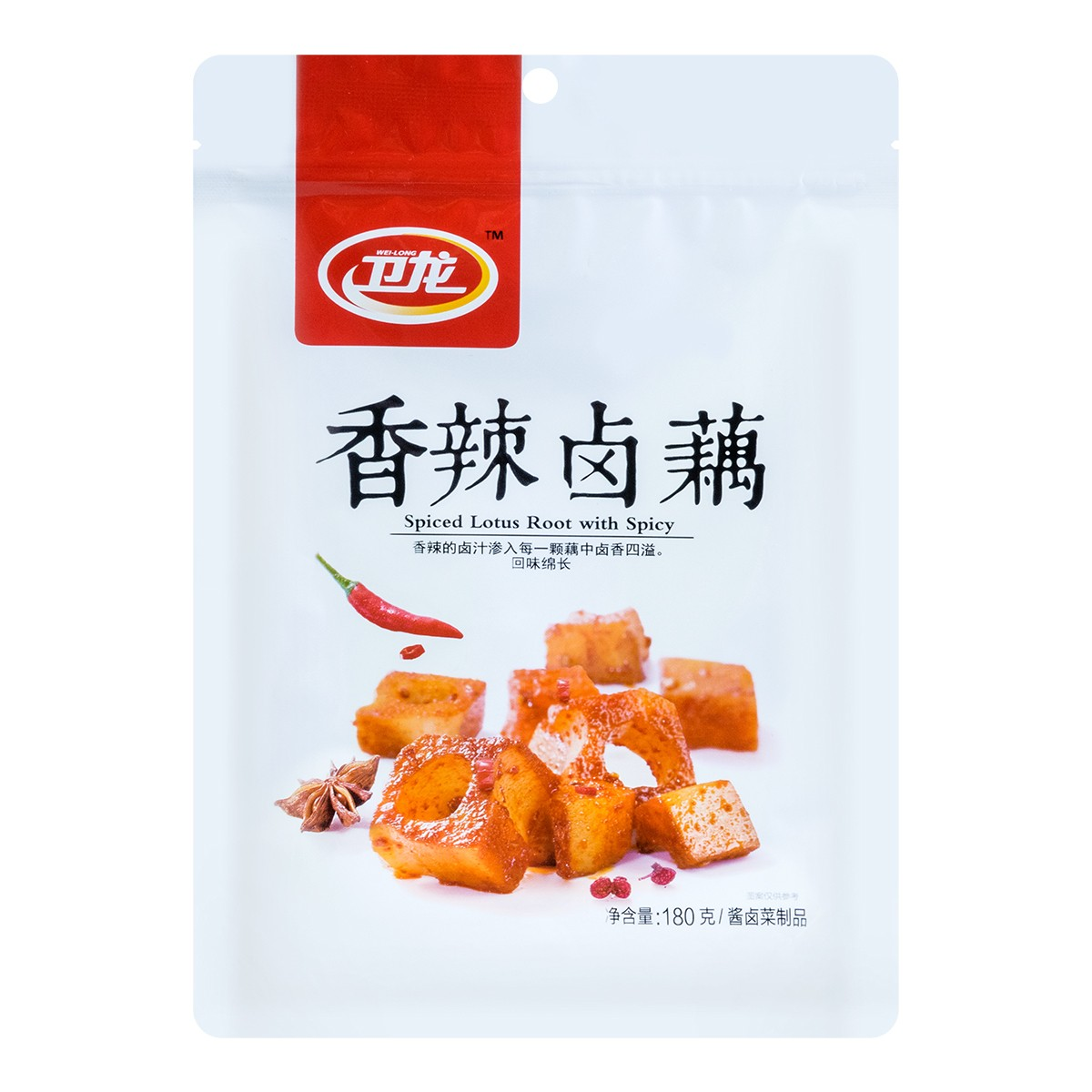 WEILONG Spiced Lotus Root with Spicy 180g