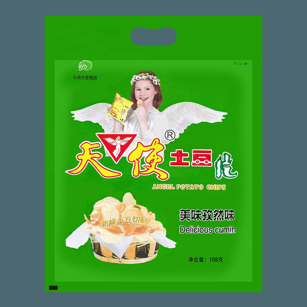 ANGEL Potato Chips-Cumin Flavor 108g