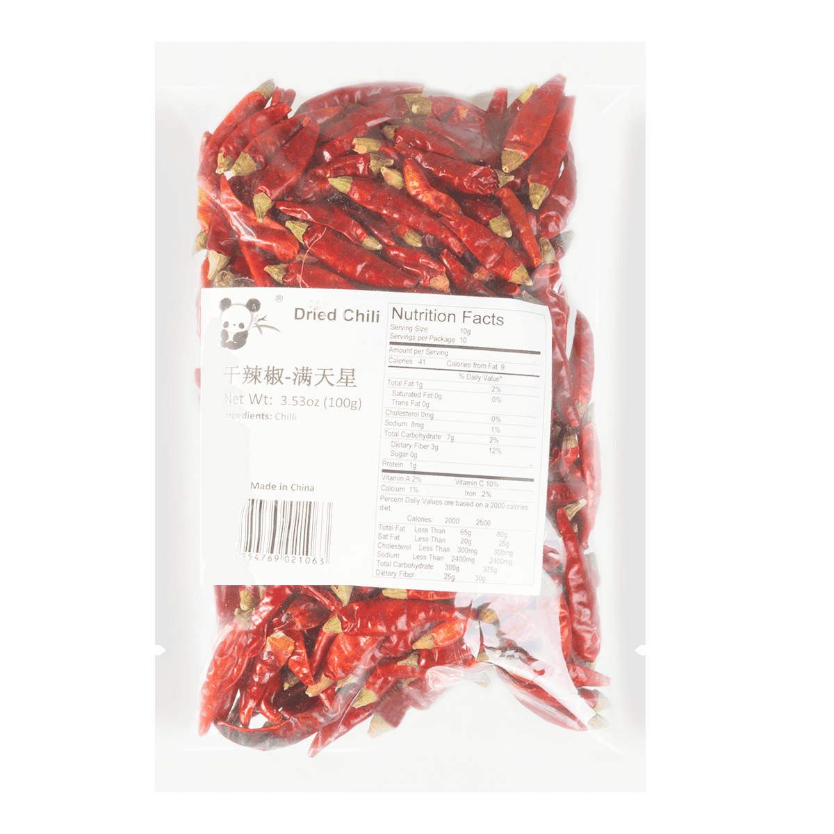 PANDA Small Dried Chili 100g
