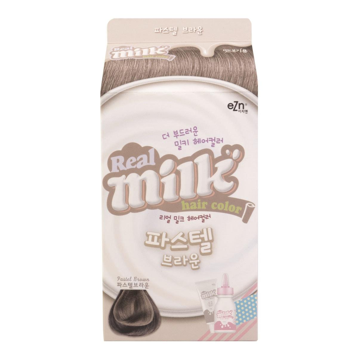 韩国DONGSUNG PHARM EZN 牛奶摇摇染发剂 #PASTEL BROWN 60g+60ml