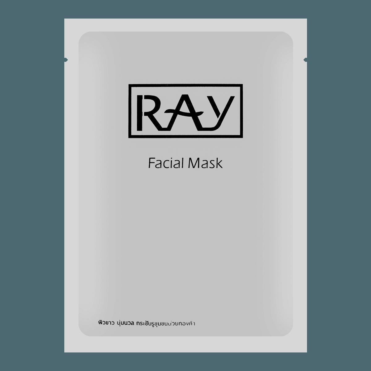 泰国RAY妆蕾 蚕丝银色补水收缩毛孔面膜 单片入