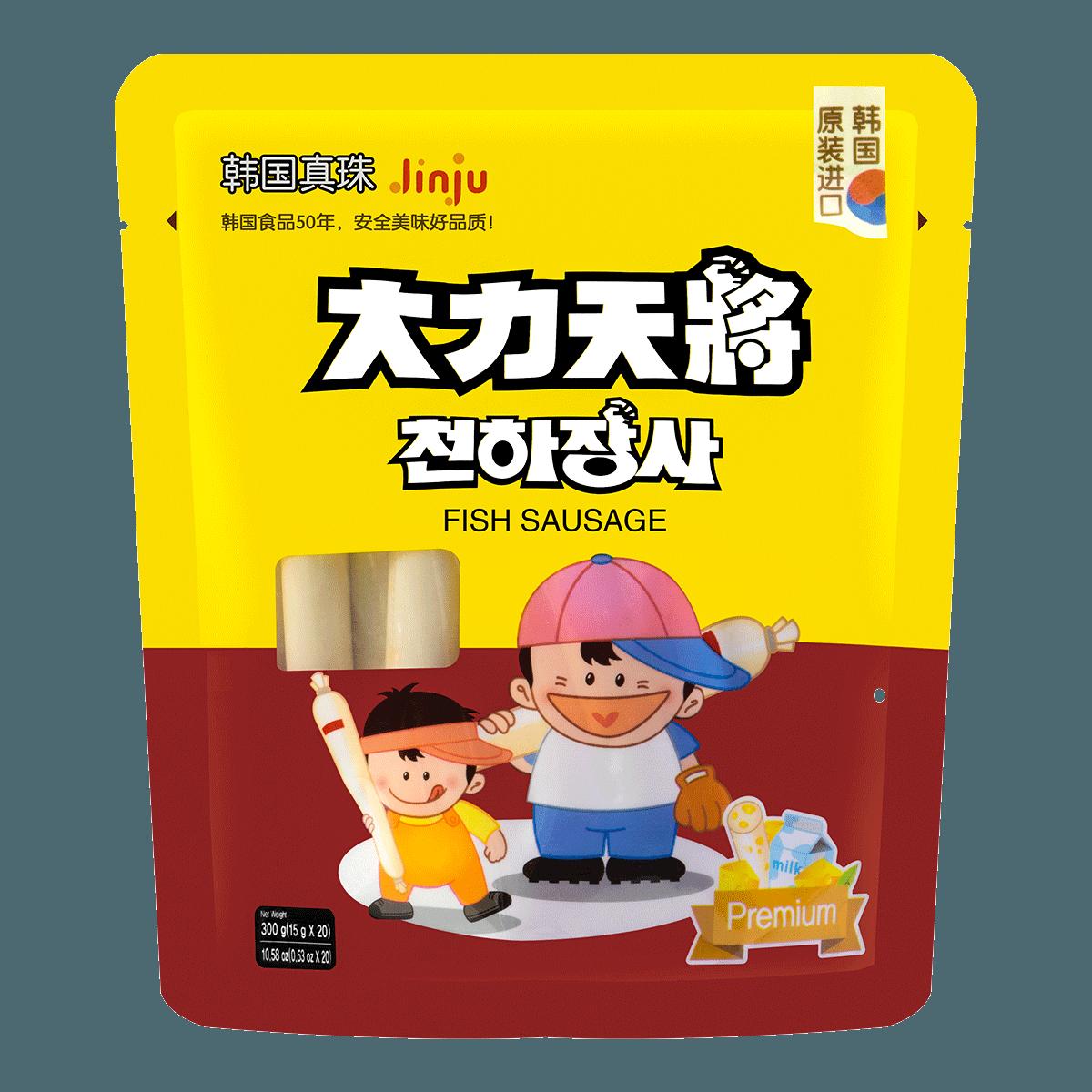 韩国大力天将 鳕鱼肠 干酪牛奶味 20根入 300g