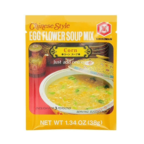 KIKKOMAN Corn& Egg Flower Soup Mix 38g